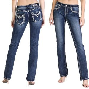 NWT Grace in LA Jeans Thick Border Boot Cut Easy